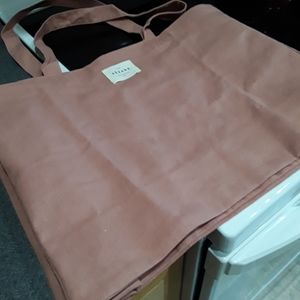 SEZANE canvas tote, salmon color, NWOT